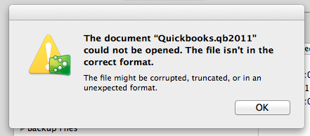 The file may be corrupted, truncated, or in an unexpected format